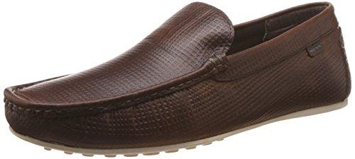 Red Tape Men's Brown Leather Loafers – 6 UK 41brHDr3I0L