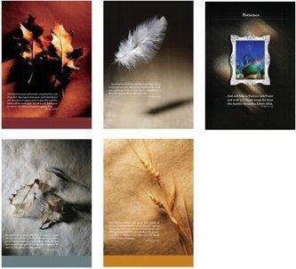 Natur Bild quranic Vers Poster: Set von 4