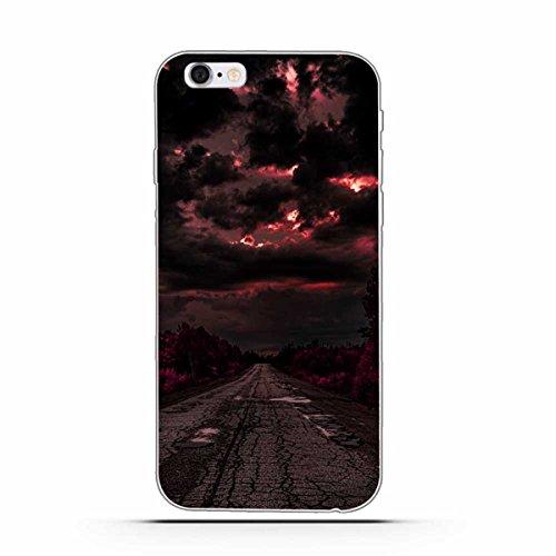 iPhone 6 Hülle, iPhone 6S Hülle, Gift_Source [ Mittelfinger ] Schutz-Hülle Silikon TPU transparent ultra-slim Case Cover ultra-thin durchsichtig für iPhone 6s/6 E1-Nachtstraße