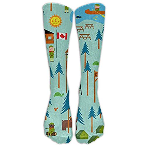Boy Scouts Camp Turtle Tube Socks For Women & Men - Graduated Athletic Fit For Running, Nurses, Flight Travel, Skiing & Maternity Pregnancy - Boost Stamina & Recovery Scout-ankle Boot