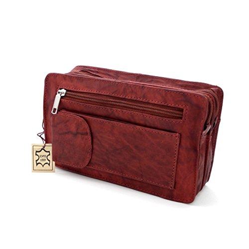 Cuir véritable Cuir Double sac de poignet