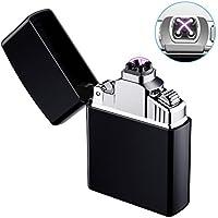 Elektronisches Feuerzeug, AngLink USB Elektro-Feuerzeug Dual Lichtbogen, Aufladbar Winddicht für Küche, Grill, Kerzen, Zigaretten, lange Lebensdauer
