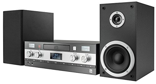 Dual DAB-MS 130 CD Stereoanlage (DAB(+)-/UKW-Tuner, CD-Player, Musikstreaming via Bluetooth, USB-Anschluss, AUX-IN-Anschluss, Fernbedienung) Schwarz
