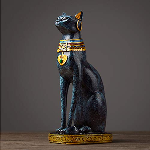 SUIZNS Egyptian Cat Resin Craft Vintage Home Decor Modern Vintage Baster Goddess god Pharaoh Figurine Statue for Table Ornaments Gift -