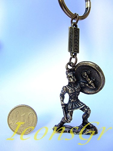 ancient-greek-zamac-keyring-miniature-statue-of-spartan-king-leonidas-gold