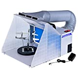 #10: Master Airbrush Portable Hobby Airbrush Craft Spray Booth (Without Optional LED Lighting) for Painting All Art, Cake, Craft, Hobby, Nails, T-Shirts & More. Includes 5.6ft Exhaust Extension Hose