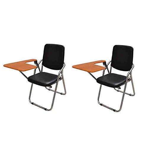 Sunny Chaise De Bureau D'écriture, Chaise De Conférence Pliante Chaise D'arrière-Plan De Loisirs D'ordinateur, Paquet De 2