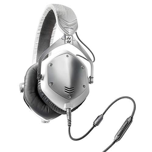 V-MODA Crossfade M-100 Casque Audiophile Filaire, Circum-Aural, Pliable, avec Isolation Phonique Naturelle- Blanc Argent