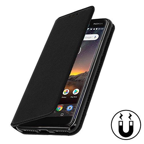 aurstore Nokia 6.1 2018 Hülle Handyhülle Nokia 61 2018 Tasche Leder Flip Case Brieftasche Etui Schutzhülle für Nokia 6.1 2018