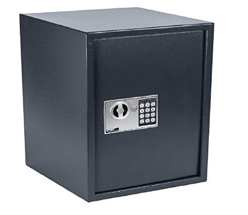 OfficeForce® Wandtresor 400 mit digitalem Zahlenschloss/Codeschloss, Safe, Tresor, Geldschrank, Stahlschrank, Geldsafe, Geldtresor, Panzerschrank, Dokumententresor, Möbeltresor (20108) (Safe Mit Zahlenschloss)