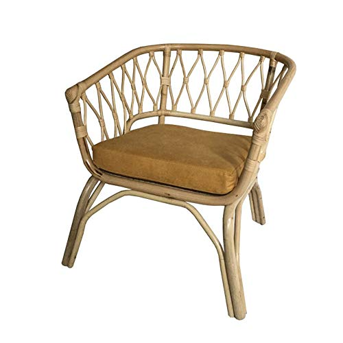 Post Chair – Porch Furniture Rattan Wicker Chairs with Cushions Outdoor Garden Furniture,70x72cm