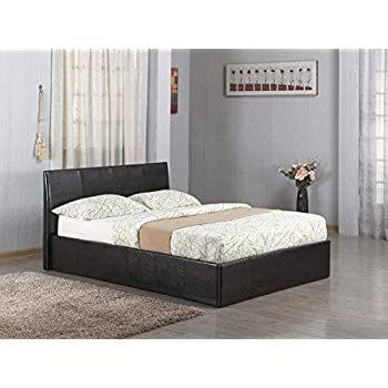 Wondrous Ottoman Gas Lift Up 46 Double Faux Leather Storage Bed In Gamerscity Chair Design For Home Gamerscityorg