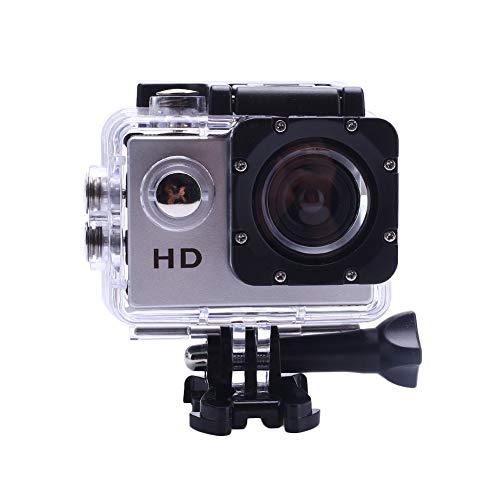 Action Kamera, Premium 2 Zoll LCD 1080P Web HD 90 Grad Sport Wasserdichte Kamera Mit HDMI Snorcheln Photography_Silver