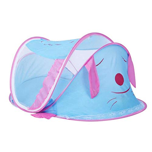 Mosquitera de algodón portátil para cuna, mosquitera para cama de bebé, mosquitera portátil para bebé talla única azul