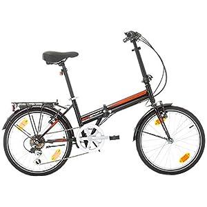 "Bikesport FOLDING Bicicleta plegable ruedas de 20"" Shimano 6 velocidades (Nero)"