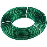 ZDG 535007Acero Cuerda Cuerda para tender 50m plástico 17x 3x 3cm, color verde