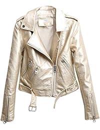 new product c8497 c0ed3 Amazon.it: giacca pelle - Oro / Giacche e cappotti / Donna ...