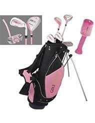 GolfGirl Pink Junior Golf Clubs Set inc bag, AGE 8 - 12 RH