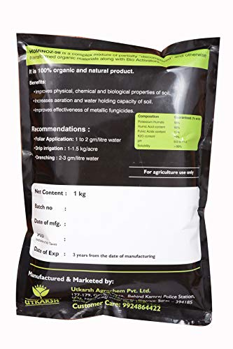 Utkarsh Huminoz-98 (1 kg) (Biologically Activated Humic Acid 98% for Plant)