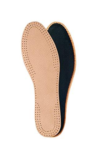 Solette in pelle per scarpe o stivali da uomo e da donna, ideali per sandali e scarpe a tacco alto, accessori/inserti per scarpe, disponibili in varie misure, marrone (natural), 39 eu