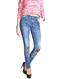 Damen Jeans Hose Boyfriend Destroyed look Hüftjeans Chino Haremshose Stretch 616
