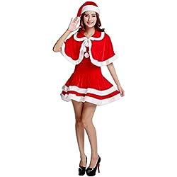 Disfraz de Mamá Noel para Mujer Traje de Santa Disfraz de Navidad