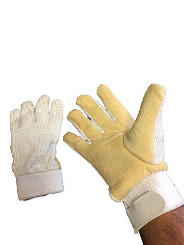 ND Handschuhe für Wicketkeeper Innen chamois Gepolsterte Cricket WK Inners Handschuhe, Jungen