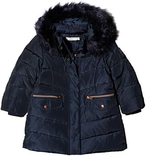 NAME IT Baby-Mädchen NMFMELA DOWN Jacket Camp Jacke, Blau Detail: with Sky Captain Color Fur, 92