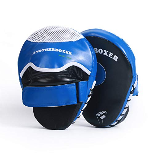 Boxing Target Essential Curved Boxing Fausthandschuhe Boxing Pads Hook & Jab Pads Zielfokus Schlaghandschuhe Thai Strike Kick Shield,Blue -