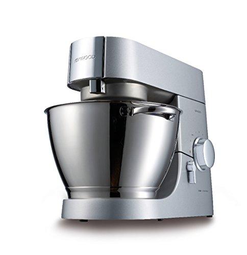 Kenwood Chef Titanium KMC050 Küchenmaschine, 1.400 W, 4,6 l Füllmenge, 4-teiliges Patisserie-Set, 1,6 l ThermoResist Glas-Mixaufsatz