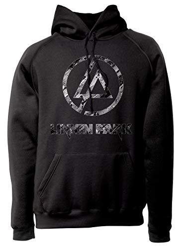 LaMAGLIERIA Unisex-Hoodie Linkin Park Black and White Texture - Kapuzenpullover Metal Rock Band, S, Schwarz