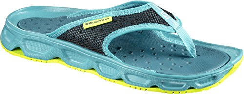 Salomon Damen RX Break Flipflops, Türkis (Blue Bird/Deep Lagoon/Safety Yellow), Gr. 42 2/3