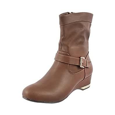 Metro Women's Khaki Boots-4 UK (37 EU) (31-7536)