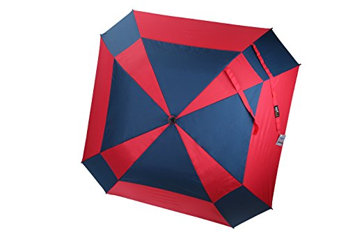 rain-street-folding-umbrella-automatic-wind-resistant-double-layer-mosaic-red