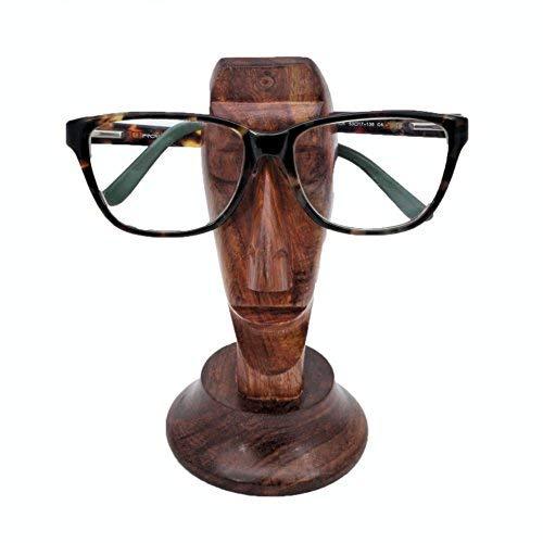 Stylla London Lese-Brillenhalter aus Holz, handgefertigt, Gesichtsform, außergewöhnliches Geschenk für Männer und Frauen