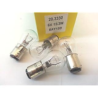 Leuchtmittel 6Akkus/3W weiße Bilux Stop/Position Zwei Filament