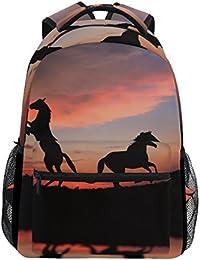 6ca0f3073e COOSUN Cavallo sopra il tramonto casual Daypack sacchetto di scuola dello  zaino di viaggio Multicolore