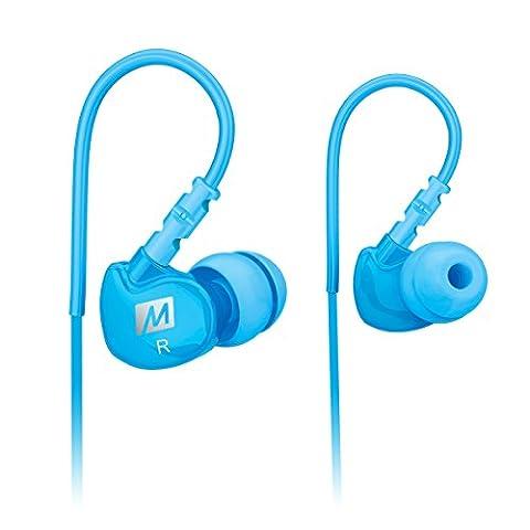 MEE audio Sport-Fi M6 Écouteurs intra-auriculaires à isolation acoustique et fils mémoire Turquoise
