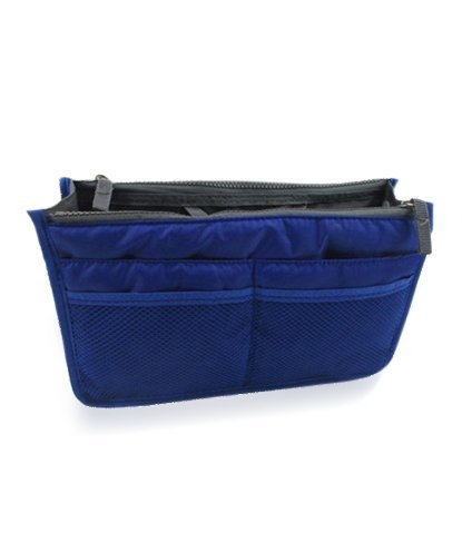 Connectwide Navy Blue Nylon Multipurpose Handbag Organizer(Dimen- 31 X 20, Wxh)  available at amazon for Rs.289