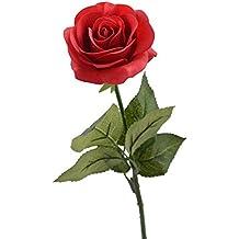 Louis Garten - Rosa artificial de seda con aspecto natural, 43,2 cm
