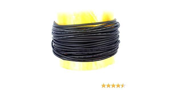 Teabelle Chaleur 201028/Tube Gaine thermor/étractable Fil Noir Wrap 10/m 2/mm