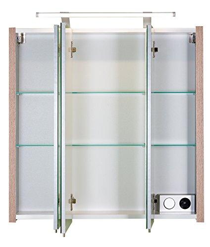 Spiegelschrank eiche bestseller shop f r m bel und for Amazon spiegelschrank