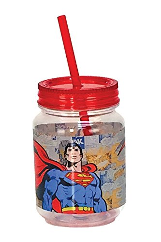Spoontiques Superman Mini Mason Jar,, rot (Mason Jar-cup Für Kinder)