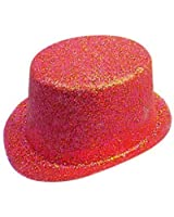 Hat Glitter Topper Red PVC for Fancy Dress Party Accessory