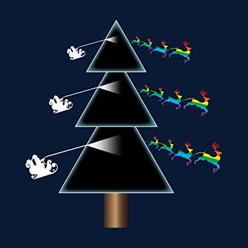 Pink Floyd Dark Side Of The Christmas Tree Women's Vest Navy blue