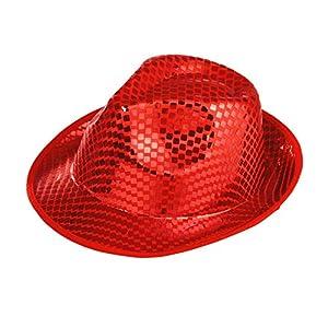 WIDMANN?Fedora Sombrero con Lentejuelas Cuadrados, One Size
