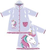 ARTESANIA Y DISEÑO TEXTIL, S.A. Chubasquero Unicornio para Niñas - Impermeable Unicornio Tipo Chaqueta con Cap
