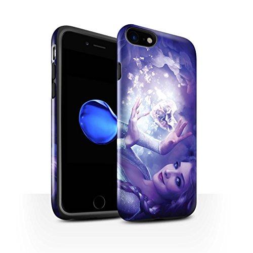 Officiel Elena Dudina Coque / Brillant Robuste Antichoc Etui pour Apple iPhone 8 / Notre Dame Design / Caractère Conte Fées Collection Cour Gelé