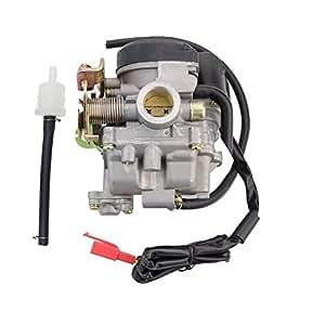 GOOFIT 18mm Carburateur pour Scooter Carb GY6 50cc 60cc 80cc 139QMB chinois Mobylette 49cc 60cc