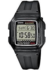 Casio CASIO Collection - Reloj digital de caballero de cuarzo con correa de resina negra (cronómetro, alarma, luz)